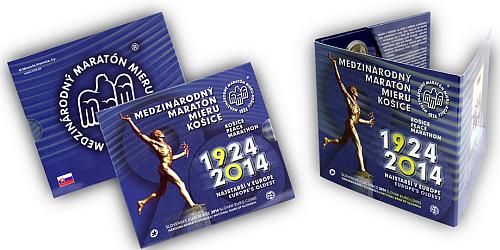 Sada oběžných mincí SR 2014 - 90. výročie prvého štartu Medzinárodného maratónu mieru - Košice