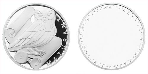 Stříbrná titulární medaile Maturant s věnováním