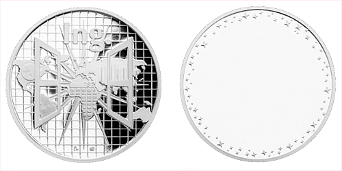 Stříbrná titulární medaile Ing. s věnováním