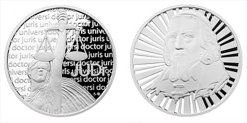 Stříbrná titulární medaile JUDr.