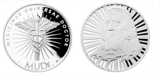 Stříbrná titulární medaile MUDr.
