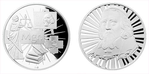 Stříbrná titulární medaile Mgr.
