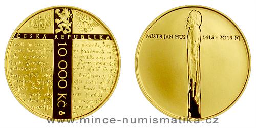 10000 Kč - 600. výročí upálení mistra Jana Husa (2015)