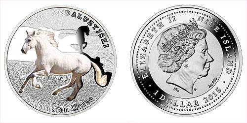 2015 - 1 $ Niue - Andaluský kůň (Andalusian Horse)