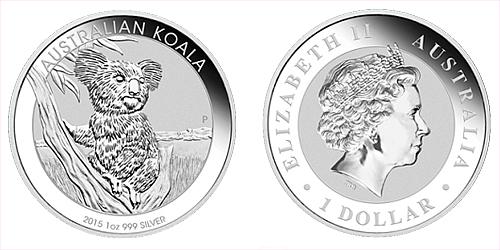 2015 - 1 dollar - Australian Koala 1 Oz Ag