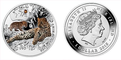 2015 - 1 $ Niue - Levhart Mandžuský (Amur Leopard)