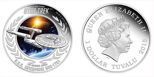 2015 - 1 $ Tuvalu - Star Trek - U.S.S. Enterprise NCC-1701