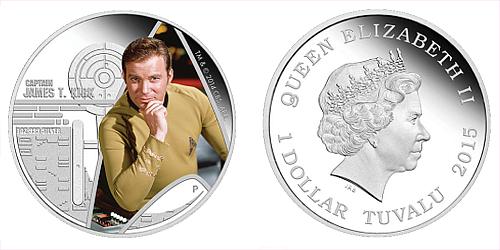 2015 - 1 $ Tuvalu - Star Trek - Captain James T. Kirk