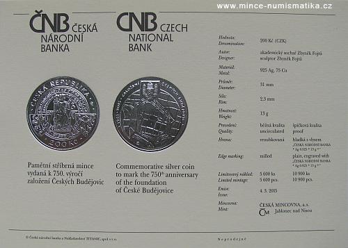 2015_200Kc_750._vyroci_zalozeni_Ceskych_Budejovic_certifikat_1