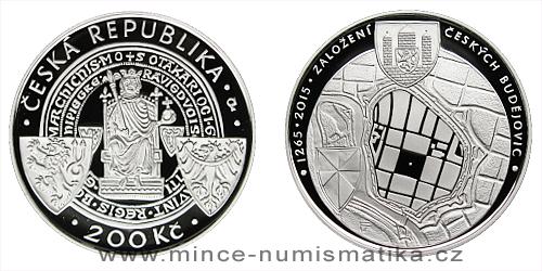 200 Kč - 750. výročí založení Českých Budějovic