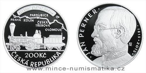 200 Kč - 200. výročí narození - Jan Perner