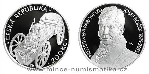 200 Kč - 200. výročí - Josef Božek předvedl parovůz