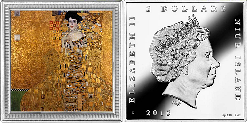 2015 - 2 $ Niue - Portrait of Adele Bloch-Bauer I by Gustav Klimt