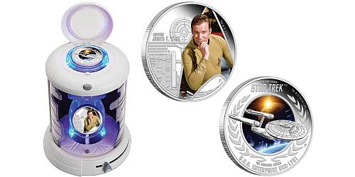 2015 - 2x 1 $ Tuvalu - Star Trek Sada - Kapitán Kirk a U.S.S. Enterprise