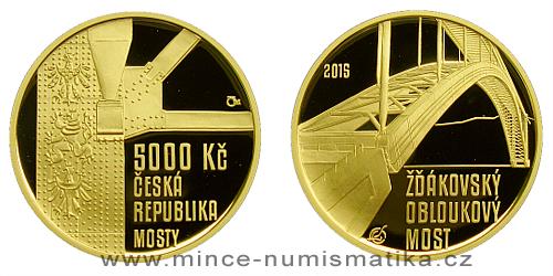 5000 Kč - Žďákovský obloukový most