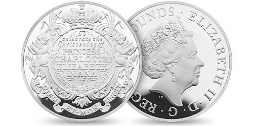 2015 - 5 £ Velká Británie - The Royal Christening 2015 (stříbro)