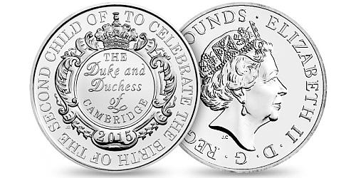 2015 - 5 £ Velká Británie - The Royal Birth 2015 (CuNi)