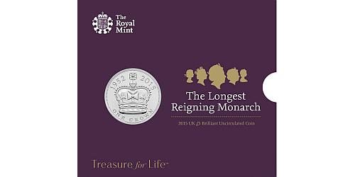 2015 - 5 £ Velká Británie - Alžběta II. - Nejdéle vládnoucí panovnice (CuNi)