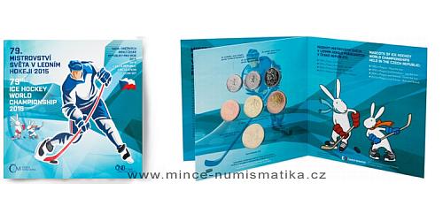 Sada oběžných mincí ČR 2015 - MS v ledním hokeji 2015