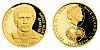 Zlatá čtvrtuncová mince 10 NZD Antonín Panenka