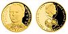 Zlatá čtvrtuncová mince 10 NZD Miroslav Kadlec