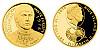 Zlatá čtvrtuncová mince 10 NZD Zdeněk Nehoda