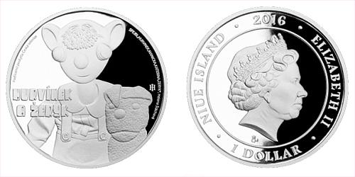Stříbrná mince 1 NZD Hurvínek a Žeryk