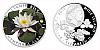 Stříbrná mince 1 NZD Leknín bílý