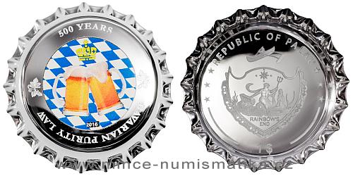 2016 - 1 $ Palau - 500 Years Bavarian Purity Law