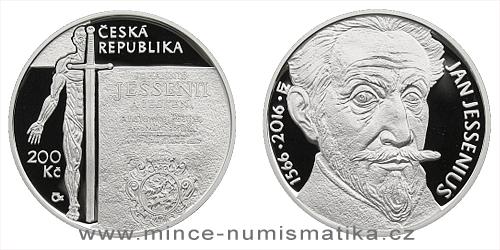 200 Kč - 450. výročí narození - Jan Jessenius