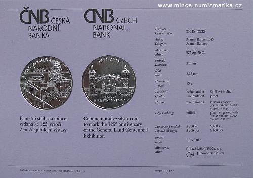 2016_200_Kc_Zemska_jubilejni_vystava_v_Praze_Ag_certifikat