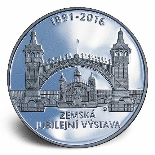 2016_200_Kc_Zemska_jubilejni_vystava_v_Praze_Ag_mince_pp_revers
