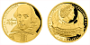 Zlatá půluncová mince 25 NZD William Shakespeare