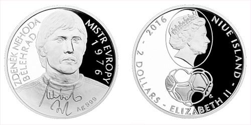 Stříbrná mince 2 NZD Zdeněk Nehoda