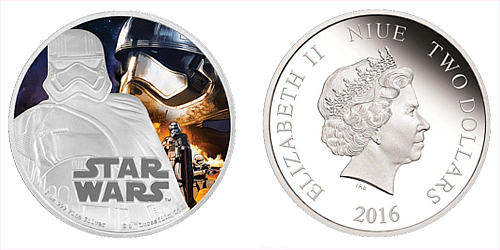 2016 - 2 $ Niue - Star Wars: The Force Awakens - Captain Phasma