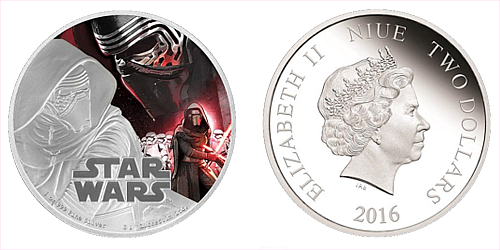 2016 - 2 $ Niue - Star Wars: The Force Awakens - Kylo Ren