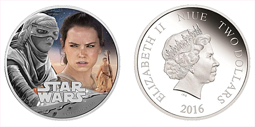 2016 - 2 $ Niue - Star Wars: The Force Awakens - Rey