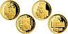 Sada čtyř zlatých mincí 10 NZD 700. výročí narození Karla IV.