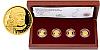 Sada čtyř zlatých mincí 5 NZD Šlechtický rod pánů ze Žerotína