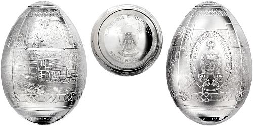 2016 - 5000 CFA Kamerun - Transsibiřská magistrála 3D Vajíčko