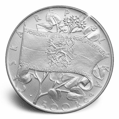 2016_500_Kc_Vznik_Ceskoslovenske_narodni_rady_Ag_mince_a