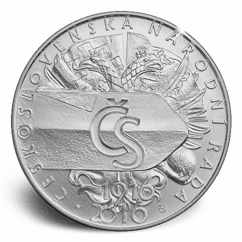 2016_500_Kc_Vznik_Ceskoslovenske_narodni_rady_Ag_mince_r