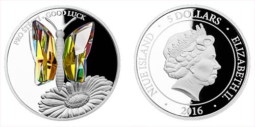 Stříbrná mince 5 NZD CRYSTAL COIN - Pro štěstí