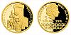 Zlatá mince 5 NZD Karel IV. a stavby - Hladová zeď