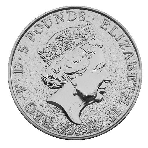 2016_5_pounds_The_Queen_beast_Ag_Lion_unc_2_Oz_revers