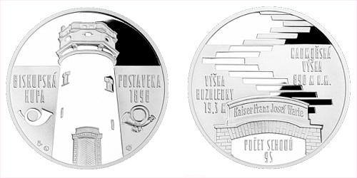 Stříbrná medaile Rozhledna Biskupská kupa