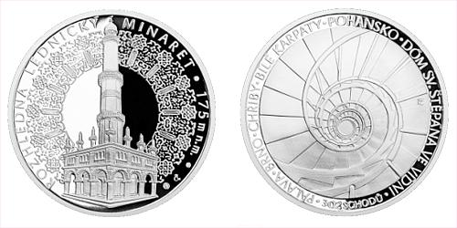 Stříbrná medaile Rozhledna Lednický minaret