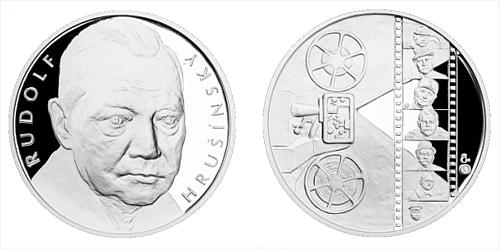 Stříbrná medaile Rudolf Hrušínský