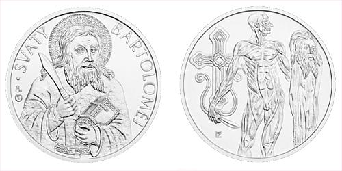 Stříbrná medaile Apoštol Bartoloměj