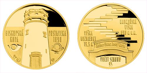 Zlatá čtvrtuncová medaile Rozhledna Biskupská kupa